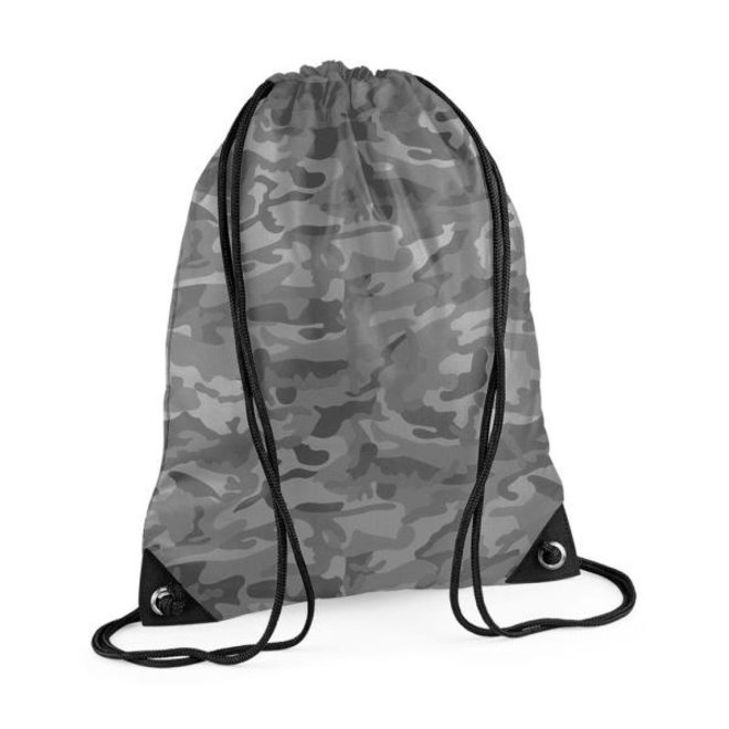 Gym bag with name in camouflage colors