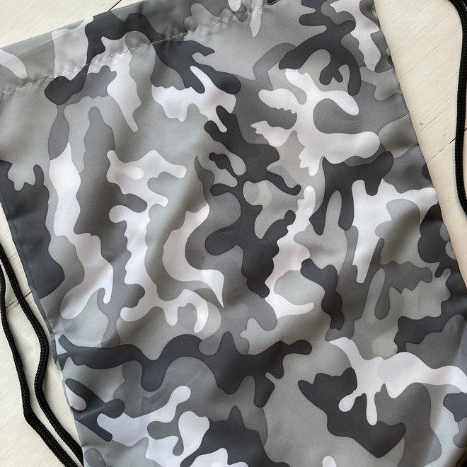 Gymtas met naam in camouflage kleuren