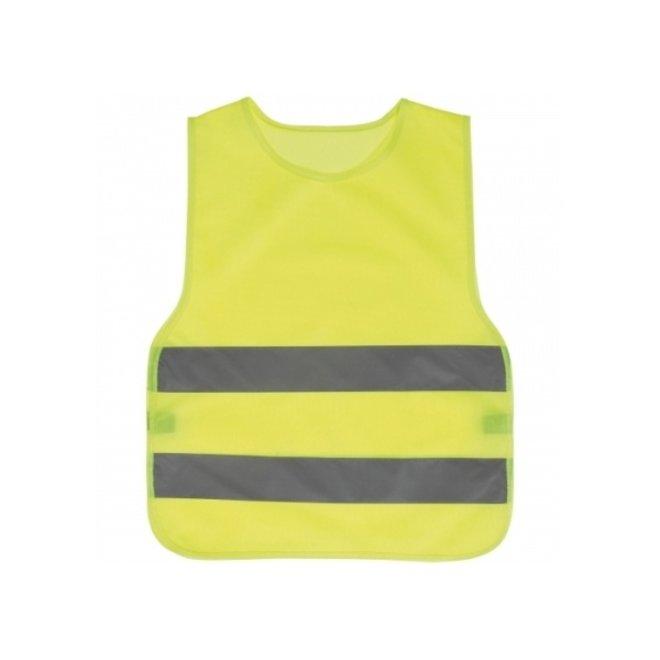 Kinder veiligheidshesje | geel | maat 110-122