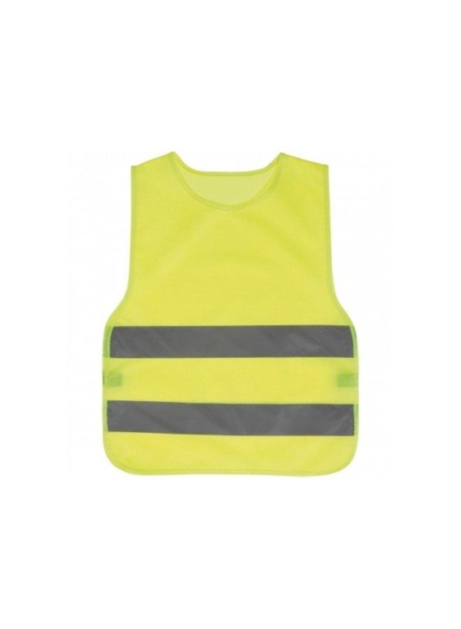 Kinder veiligheidshesje   geel   maat 110-122