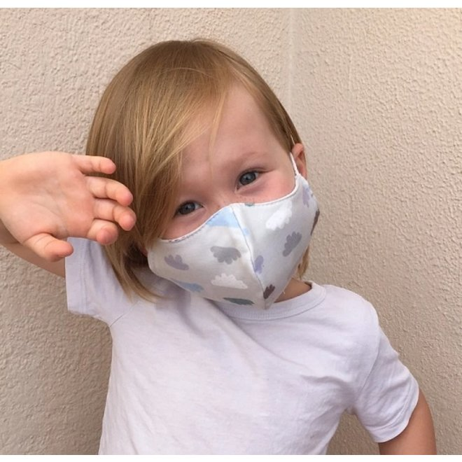 Wasbaar mondkapje met filter |  Wolken | kinderen & volwassenen