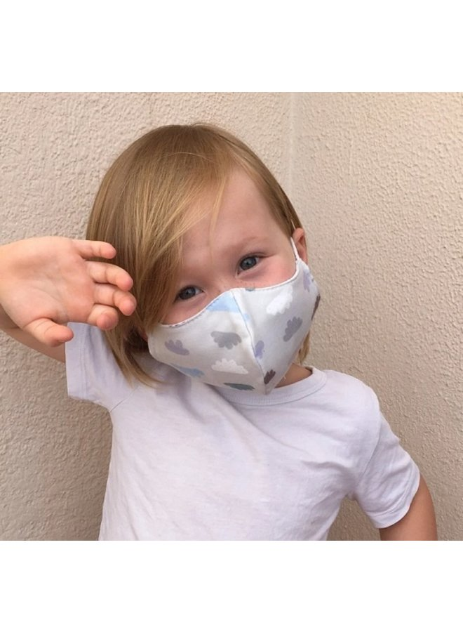 Reusable mouth mask with filter | Clouds | children & adults