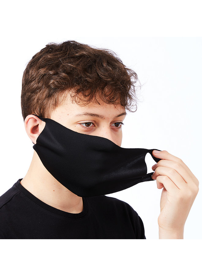 Black stretch mouth masks 2 pieces | washable