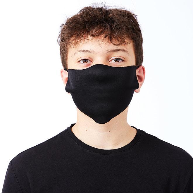 Twee stretch mondkapjes   wasbaar  zwart