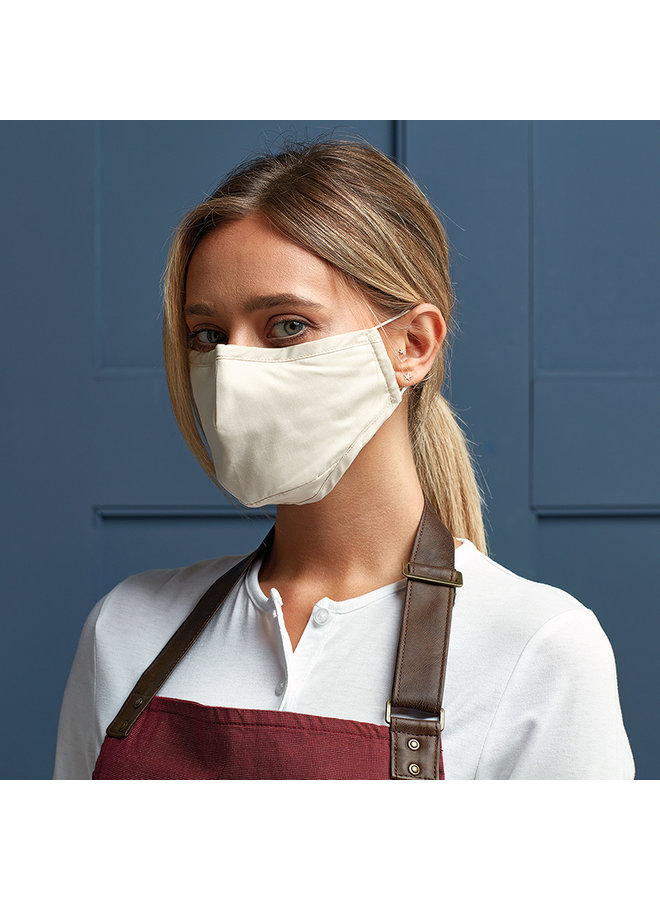 3-layer cotton mouth mask | natural or black