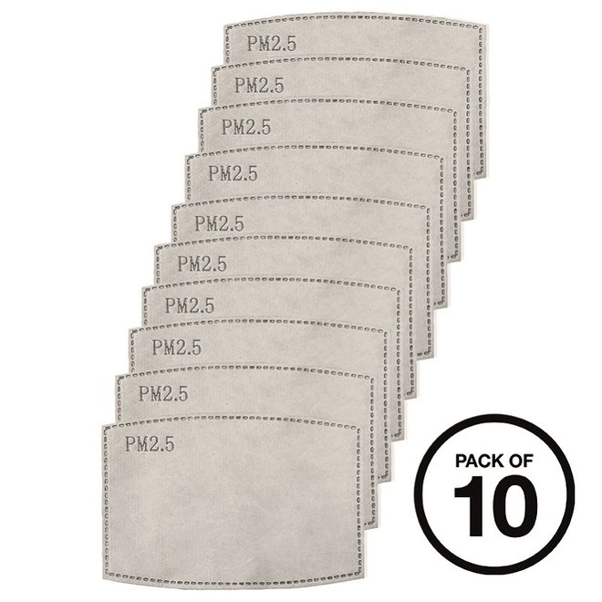 Pack of 10 carbon filters | PM2.5