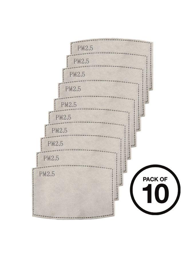 Koolstof filters voor wasbare mondkapjes | pak van 10