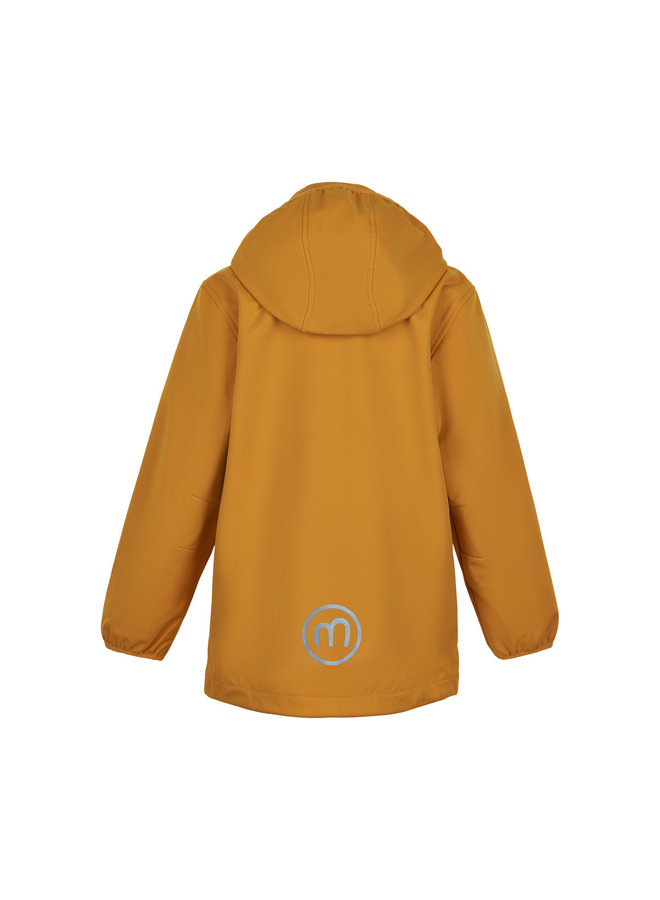 Waterdichte softshell jas| golden orange|