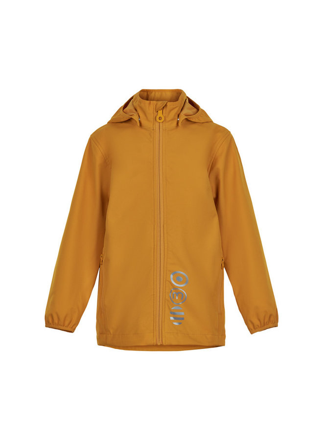 Softshell kinderjas | golden orange