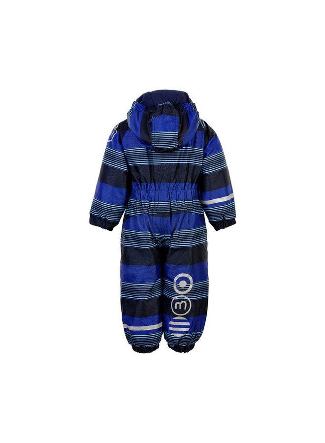 Blue striped ski suit | Placid Blue | size 80-104