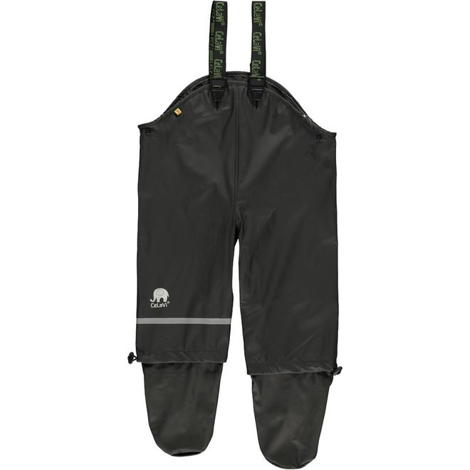 Creepers, children's rain pants with feet | black | size 70