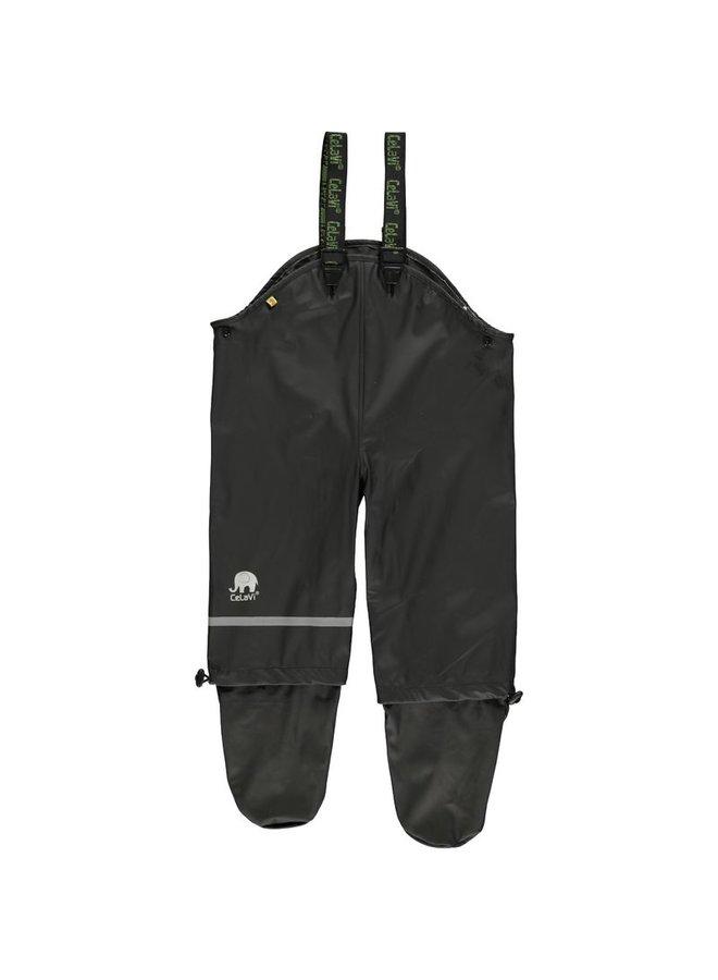 Children's rain pants, crawl pants with feet | black | mt 70