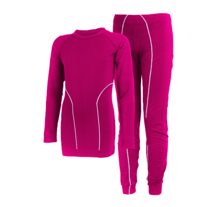 Thermo underwear child | seamless | Fuchsia