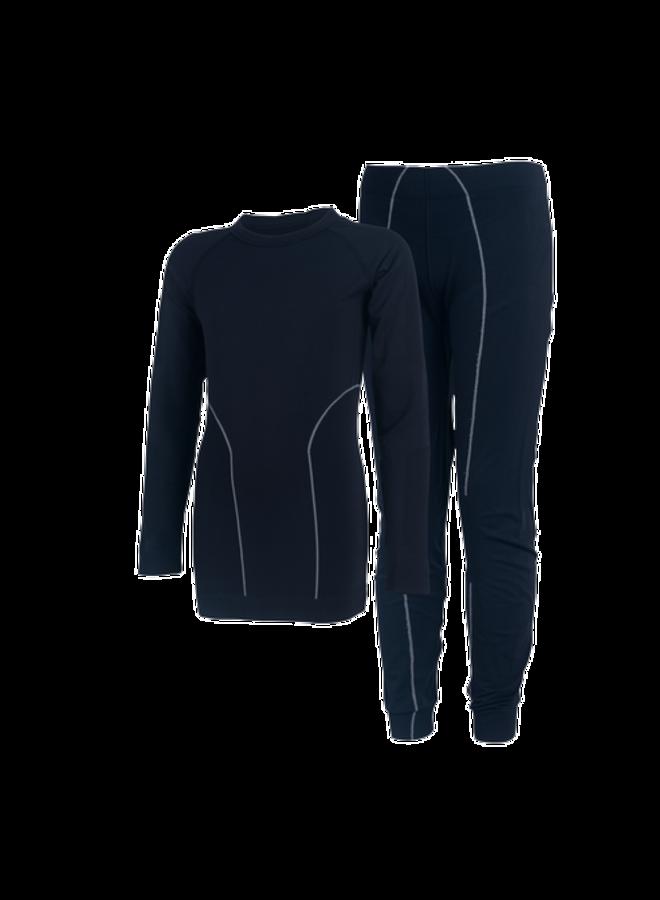 Thermo underwear child | seamless | black