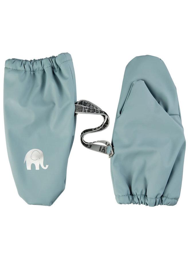 Fleece lined PU mittens | 0-4 years | Smoke Blue