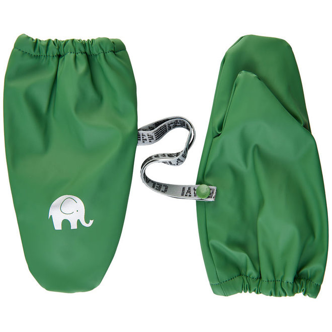 Fleece lined PU mittens | 0-6 years | Elm green