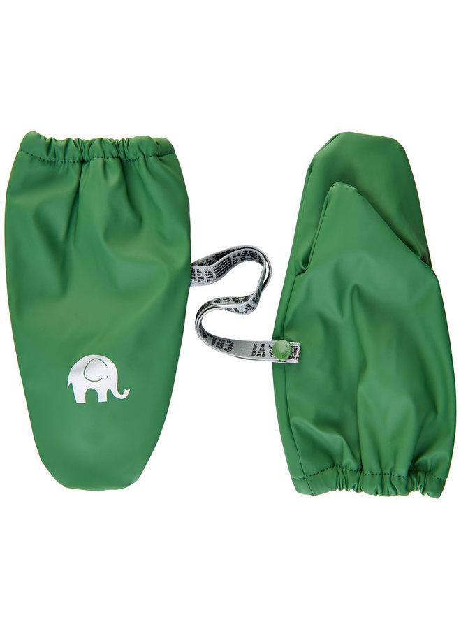 Fleece lined PU mittens | 0-4 years | Elm green