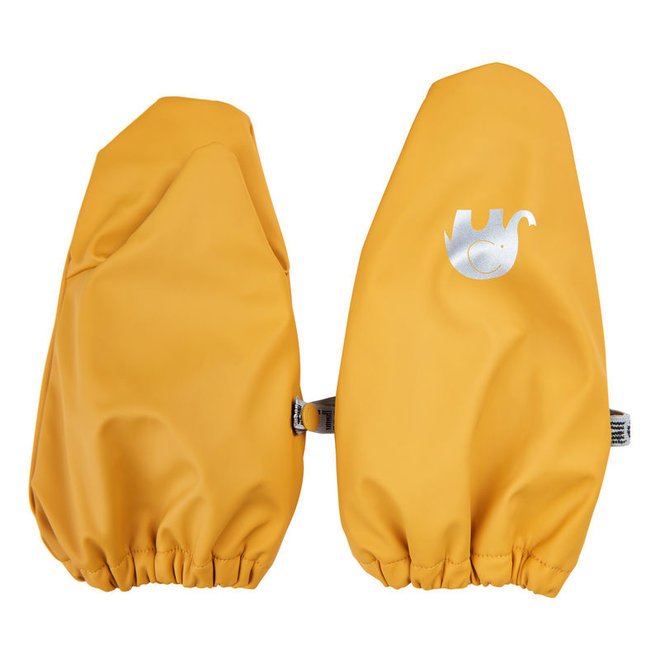 Warm mittens fleece lined and waterproof | 0-6 years | Mineral Yellow