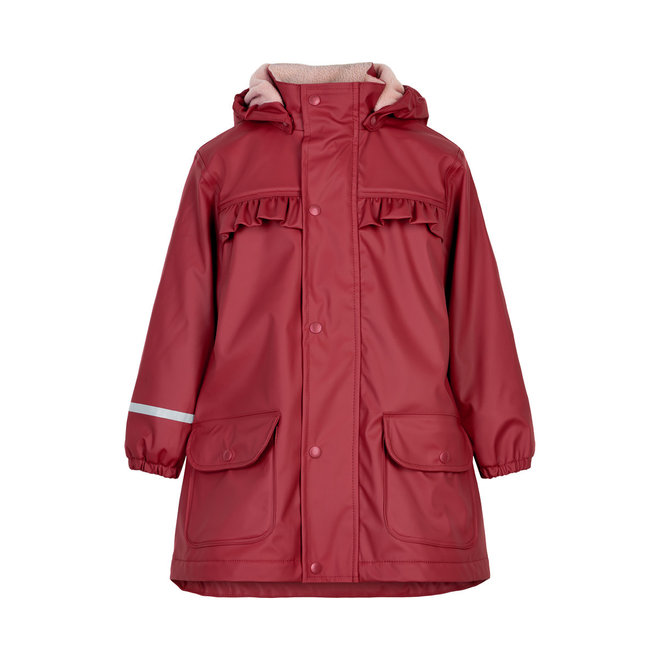 Children's raincoat | fleece lined | Rio Red