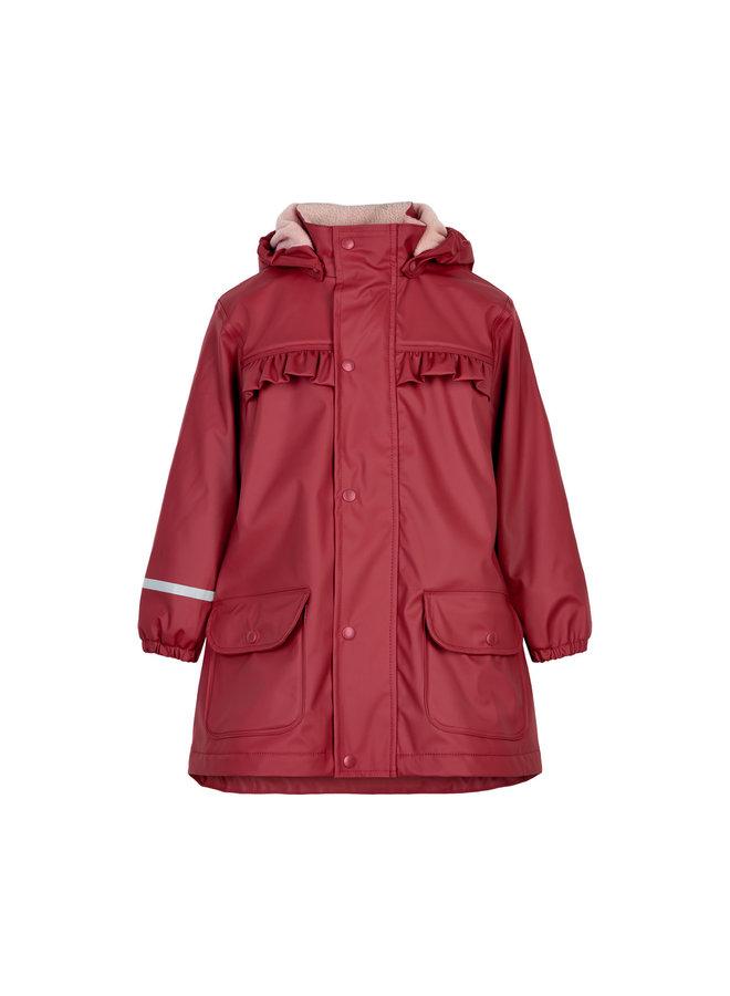 Fleece gevoerde regenjas | rood