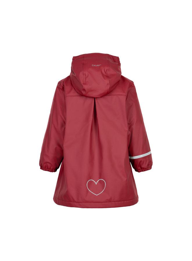 Kinderregenjas | fleece gevoerd | Rio Red