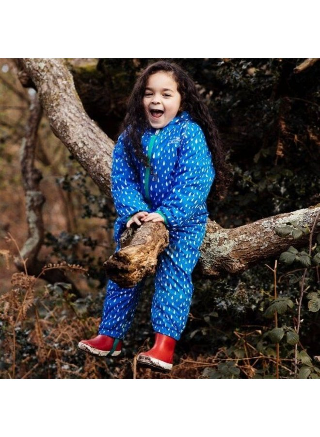 EcoSplash lined rainsuit raindrop print | 0-6 years