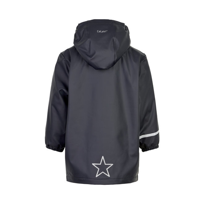 Children's raincoat | fleece lined | Dark blue
