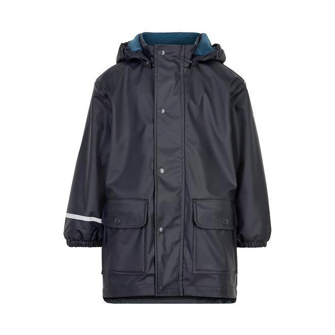 Fleece lined raincoat | dark blue