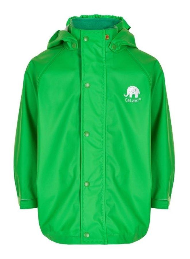 Waterproof lime green raincoat 80-140
