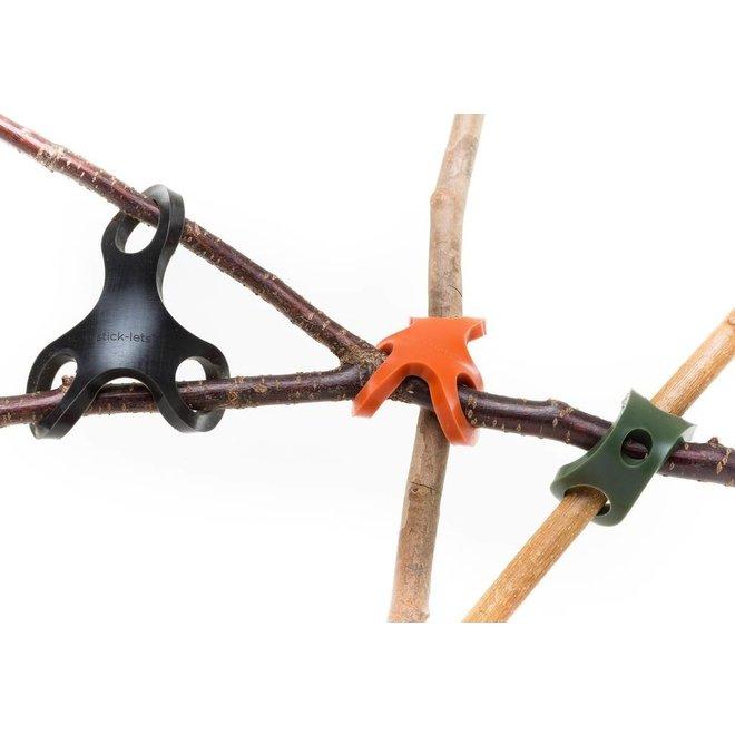 Stick-lets Camo set | 10 pcs silicone connectors