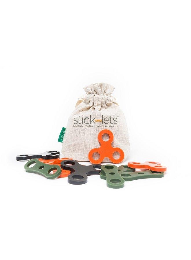 Stick-lets Camo | set van 10 stuks
