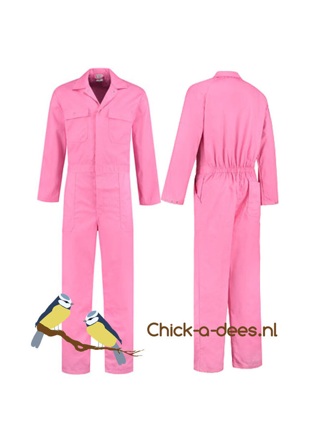 Coverall with tractor, tire tracks and name