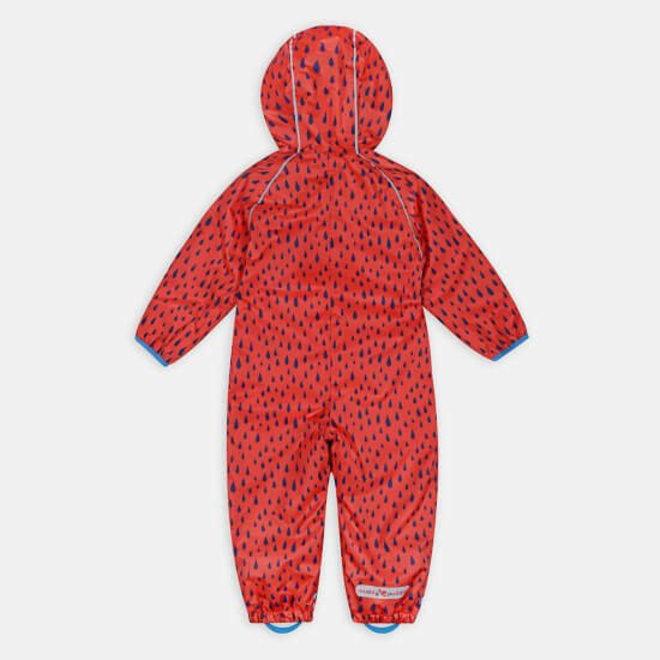 Sustainable rain suit ECOSPLASH, Raindrop | Red / blue