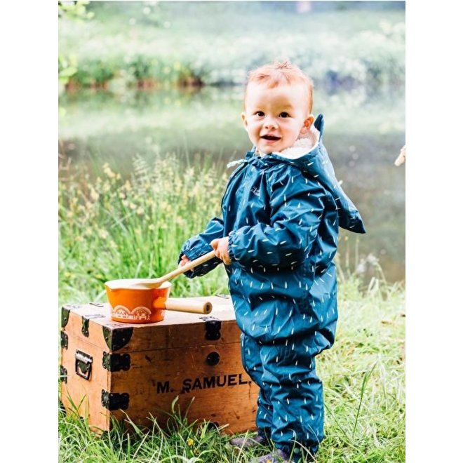 3-in-1 Outdoor suit for little ravotters | 0-6 years | Teal raindrop