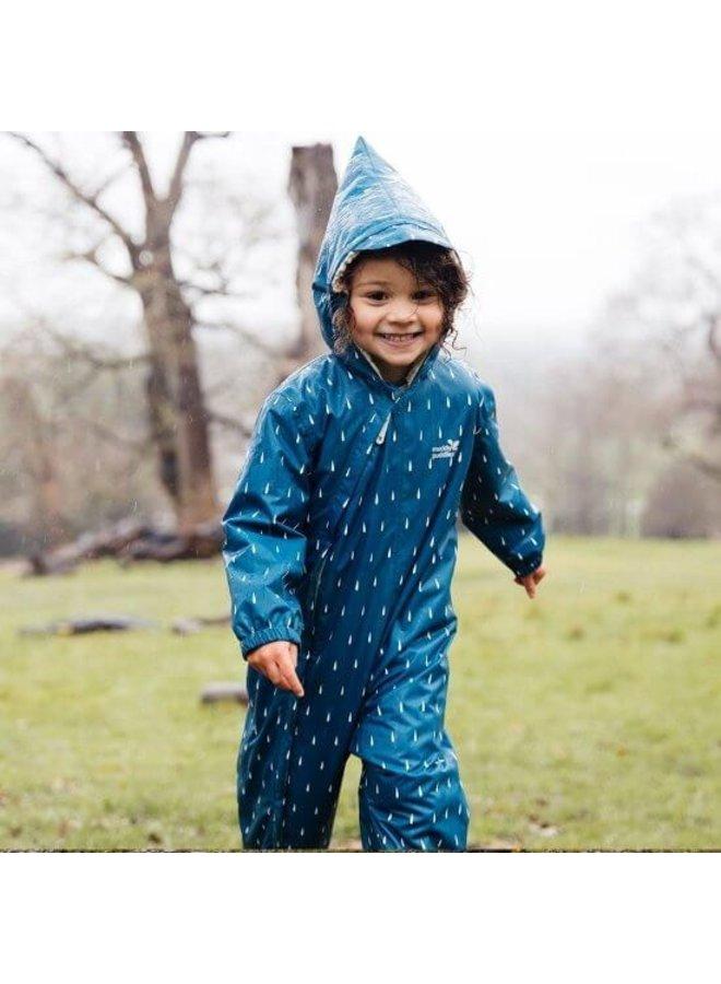 3-in-1 Ravotters buitenpak Teal Raindrop | 0-6 jaar