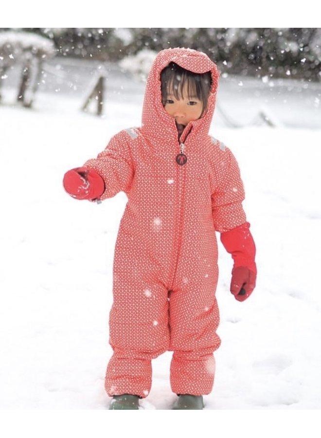 Baby Snowsuit Funky Red | maat 80-92