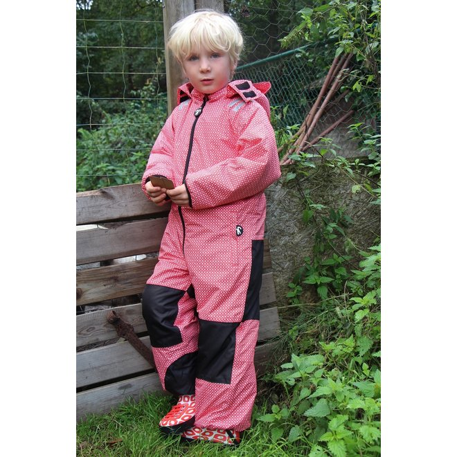 Toddler rain & ski suit | Funky Red | size 98-110