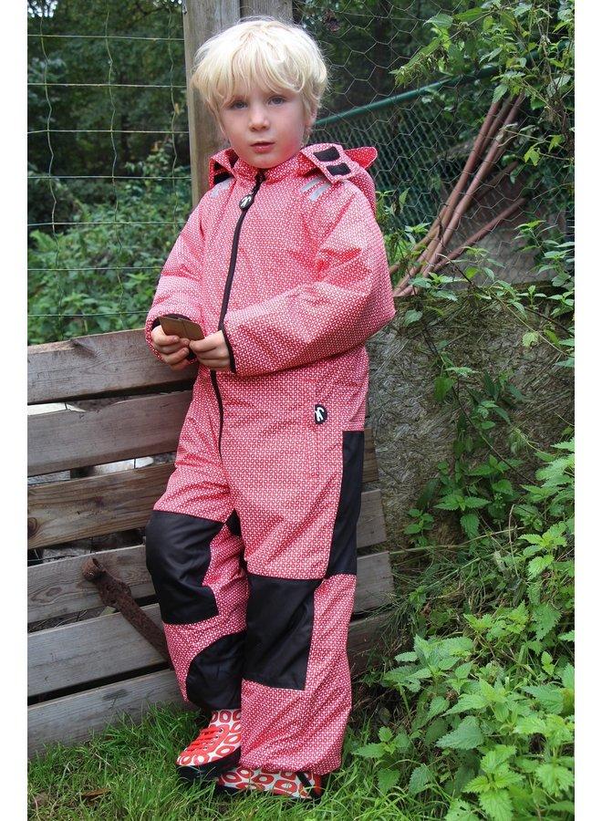 Toddler regen & ski-pak | Funky Red| maat 98-110