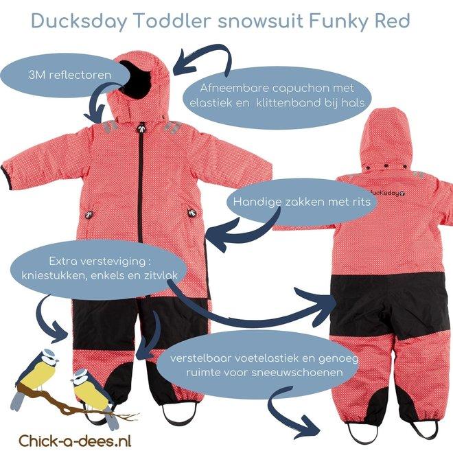 Snowsuit / rainsuit Funky Red| size 98-116