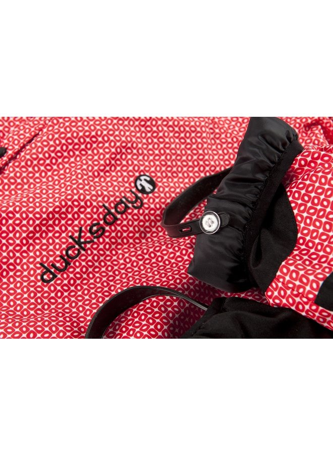 Snowsuit / rainsuit Funky Red| maat 98-110