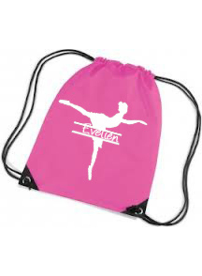 Gym bag with ballerina and name