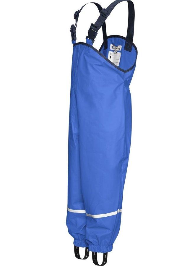 Regenbroek bretels| korenblauw | maat 74 - 104