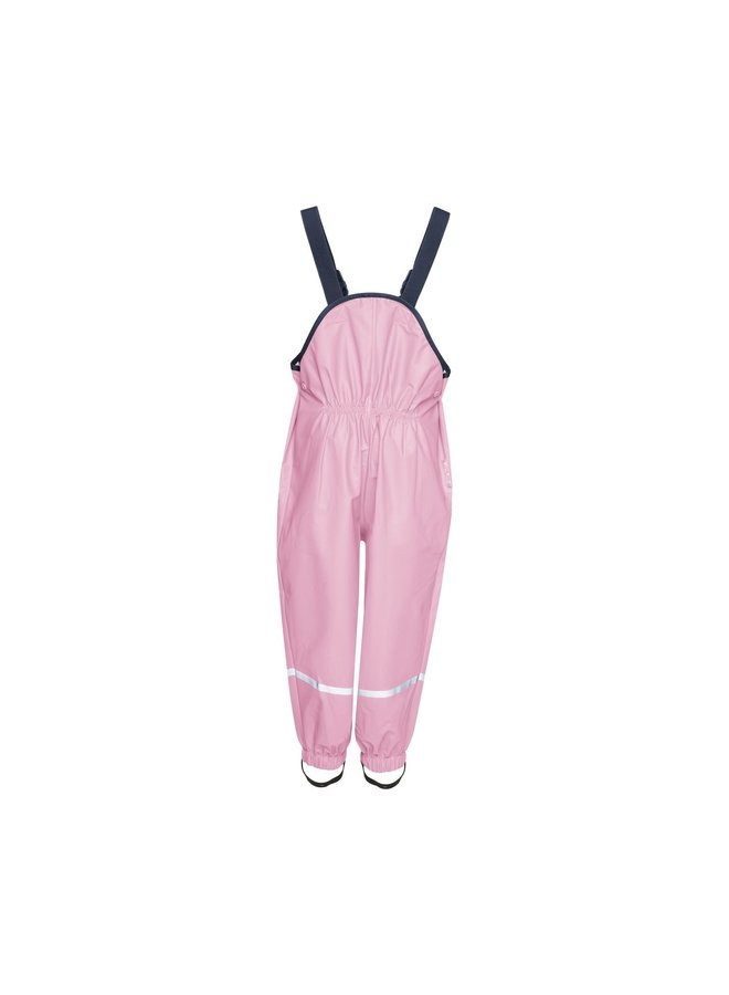 Children's rain pants with suspenders | light pink