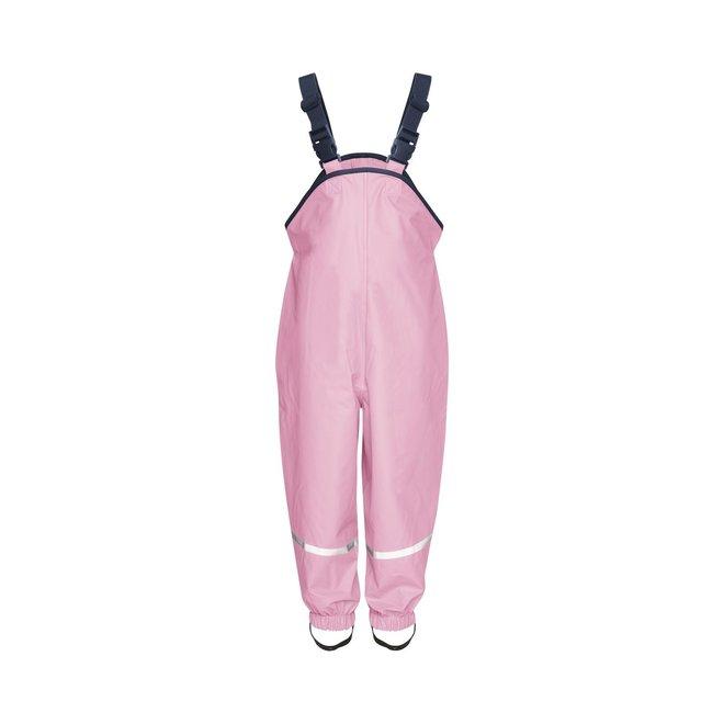 Children's rain pants with suspenders | light pink