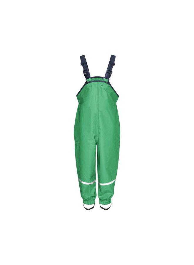 Regenbroek bretels| groen| maat 74 - 104