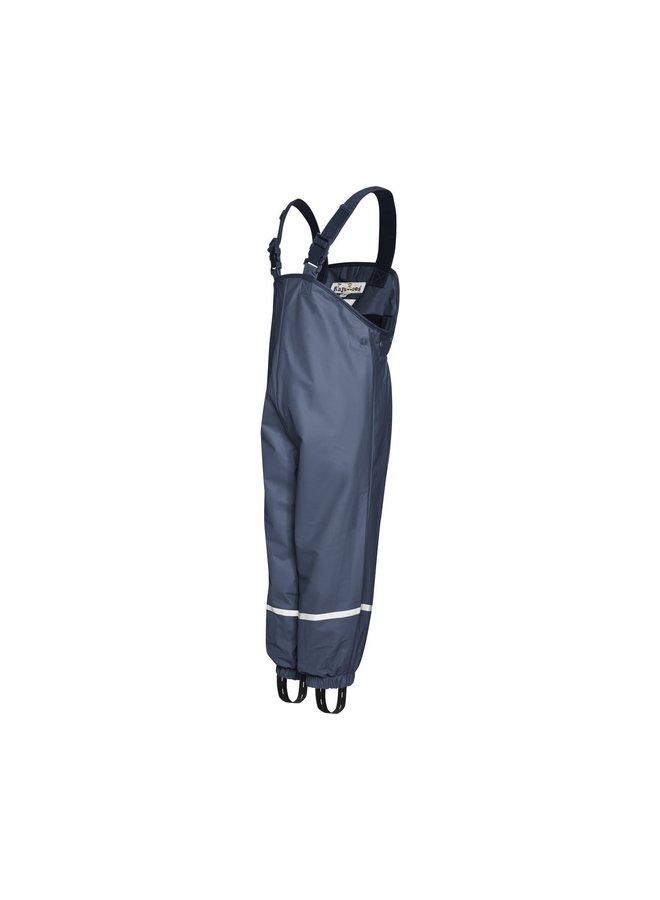Fleece lined rain pants suspenders | blue | size 74 - 104