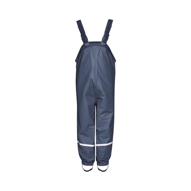 Fleece lined children's rain pants suspenders | blue | size 74 - 104