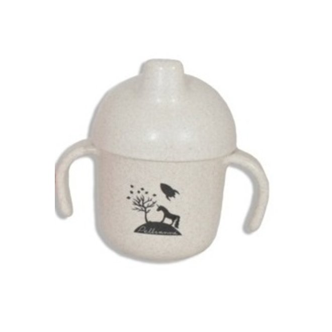 Drinking cup with spout   biodegradable   Natural