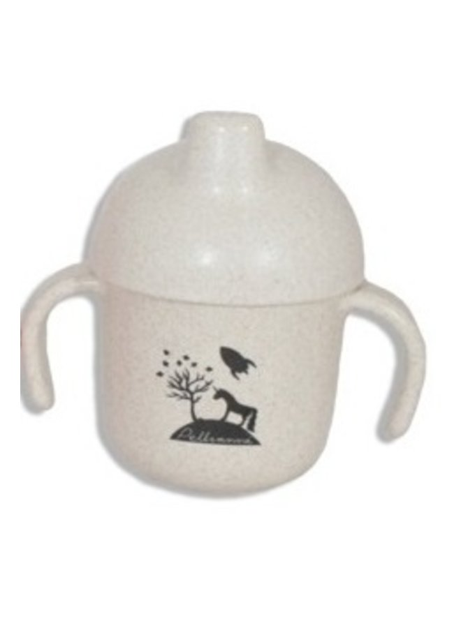 Drinking cup with drinking spout   biodegradable   Natural