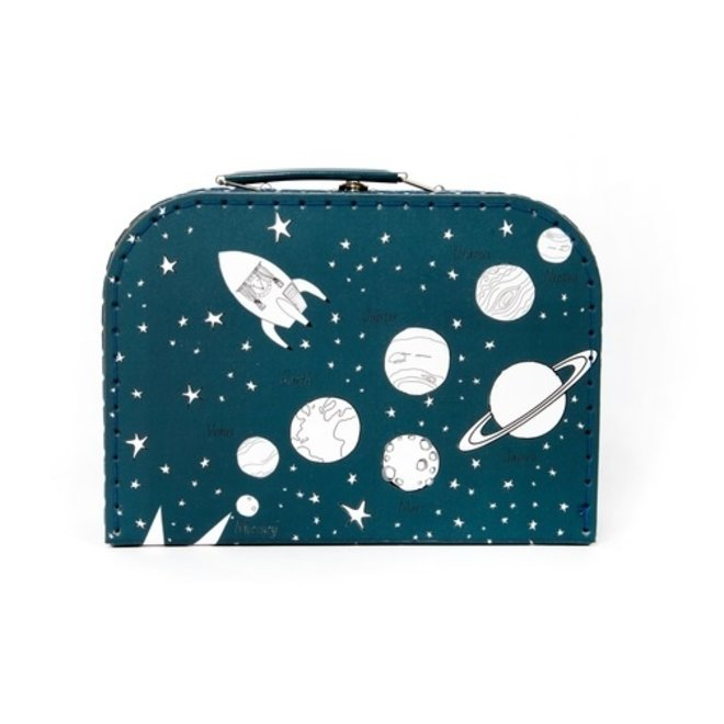 Cardboard briefcase | Space | Night blue
